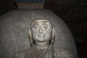 Old stone Buddha statue