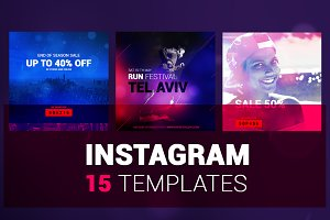 "15 Instagram Templates - ""ColorPack"""