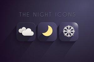 11 Winter Night Icons