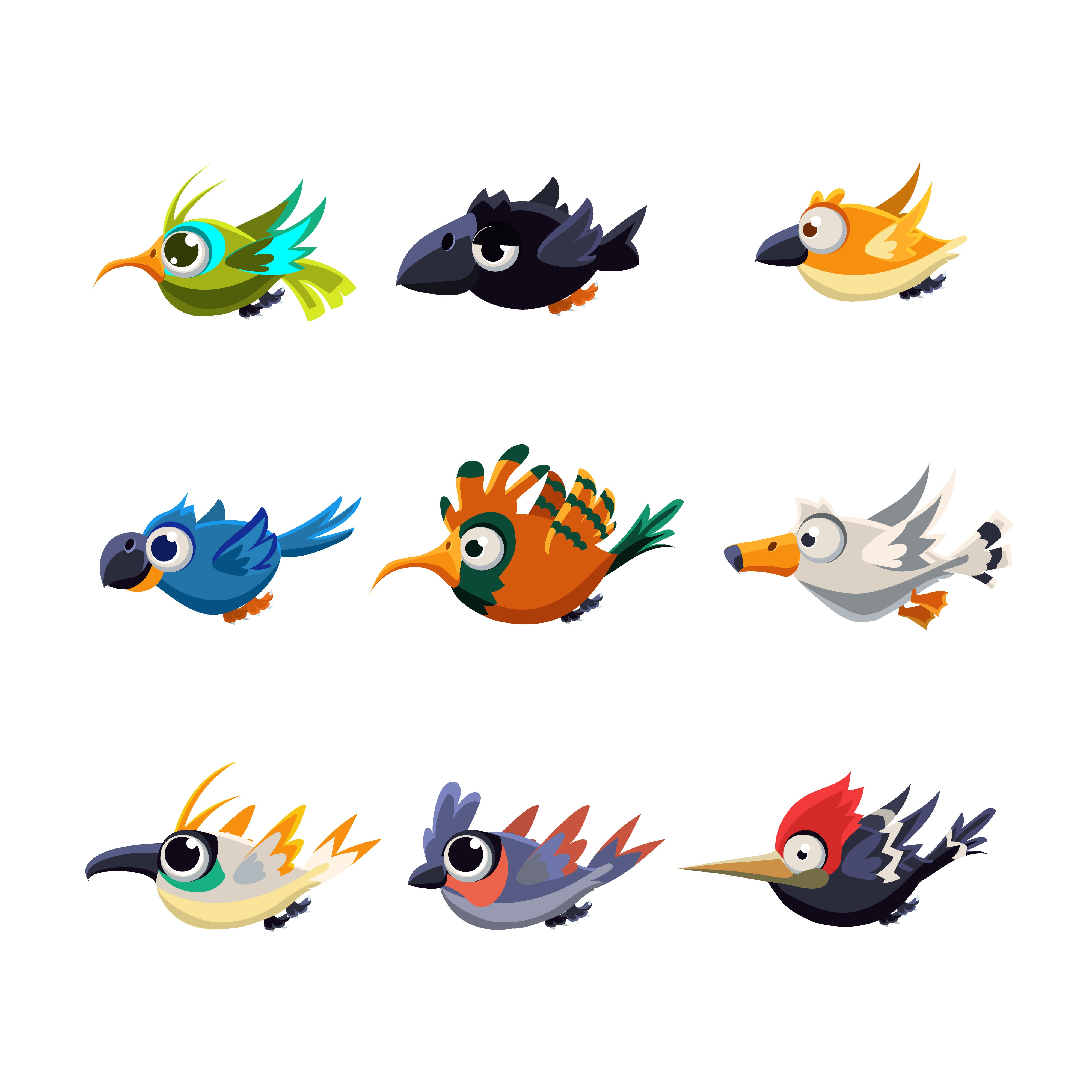 Cute Flying Birds Vector ~ Illustrations ~ Creative Market - photo#26
