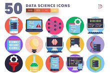 50 Data Science Icons by  in Graphics