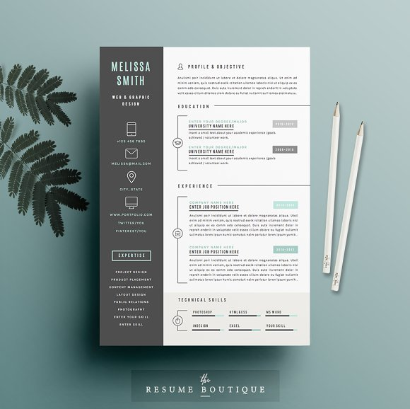 resume template 4 page pack iconic resumes
