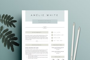 Resume Template 4 page pack | Opal