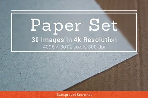 Paper Textures Backgrounds Set