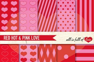 Red and Pink Background Textures