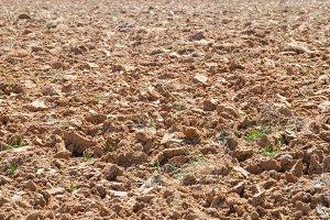 brown digged soil
