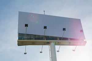 White billboard for advertising