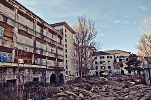 Decaying buildings