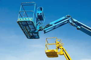Two crane's baskets