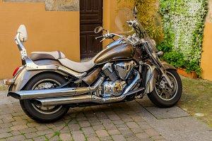 Polished motorbike