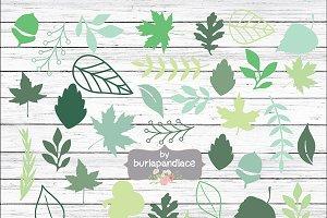 Green leaf rustic lcipart