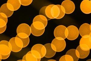 Bokeh light orange