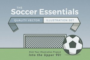 Soccer Essentials Vector Set