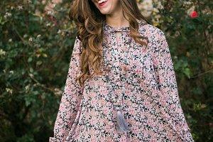 Happy Girl in Cute Dress