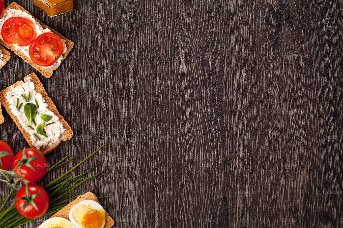 tasty canapes food border background food images creative market
