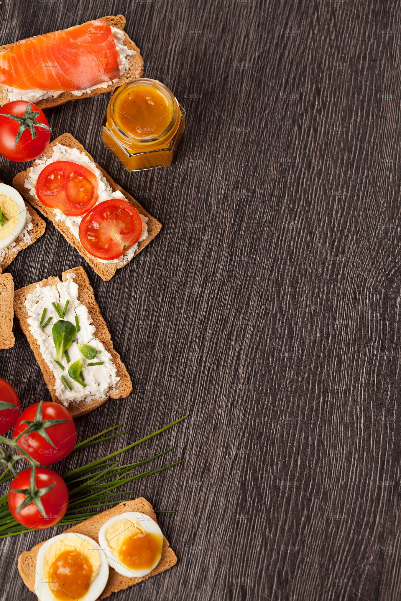 Tasty Canapes Food Border Background Food Amp Drink Photos