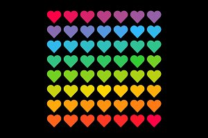 Hearts gradient pattern