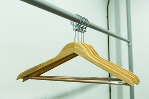 Coat hanger with a clothes line.