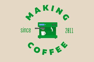 Coffee machine logotype