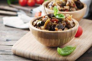 Italian dish caponata with eggplant
