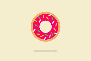Sweety color donut icon