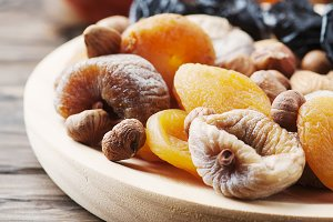 Sweet dried fruit and nuts