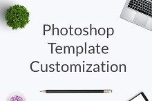 Photoshop Template Customization