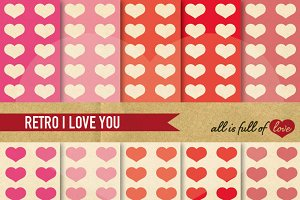 Pink and Red Vintage Love Patterns