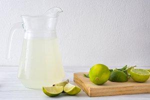 Summer drink. Lime juice