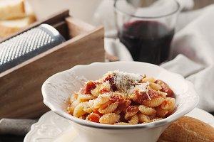 Sardinian pasta with meat