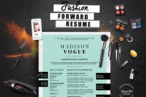 Fashion Forward Resume 5 Pack