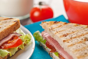 Fresh sandwiches breakfast meal
