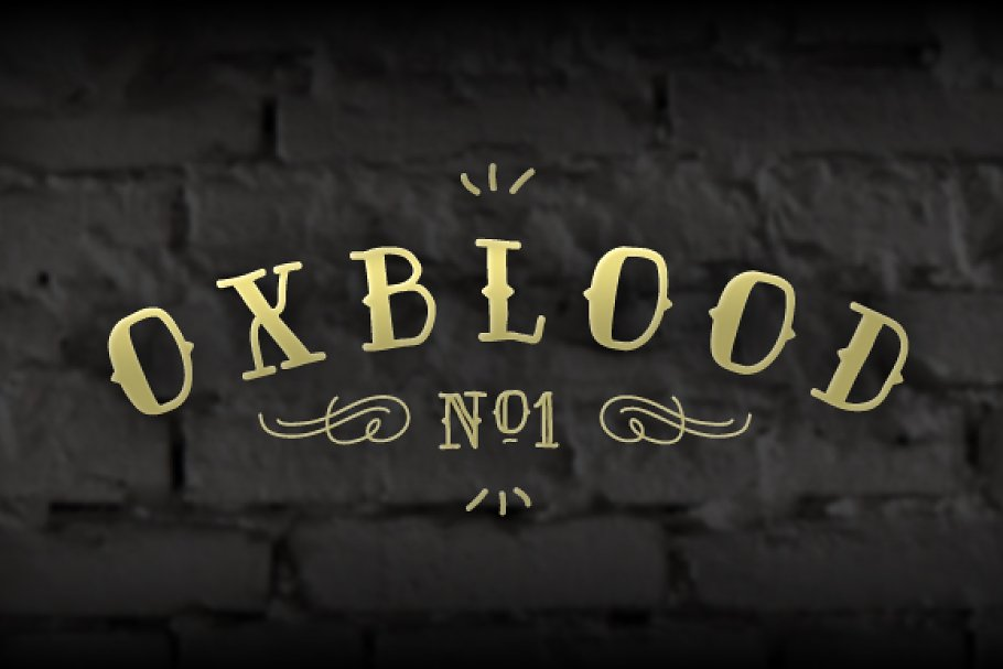 Oxblood No1 Family - Display Font