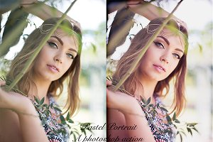 Pastel Portrait Photoshop Action