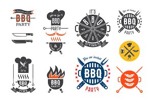BBQ party invitation card elements