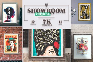 """Showroom"" Frames Vertical Mockups"