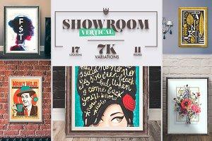 """""""Showroom"""" Frames Vertical Mockups"""