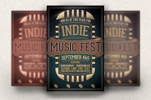 Indie Music Fest flyer