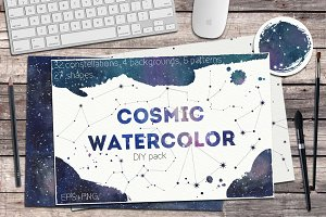 Cosmic watercolor