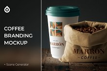 Coffee Branding Stationery Mockup by  in Mockups