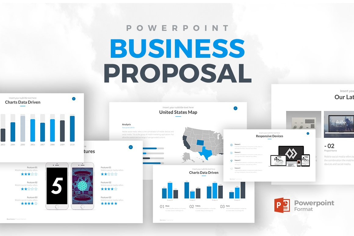 Business proposal powerpoint presentation templates creative market wajeb