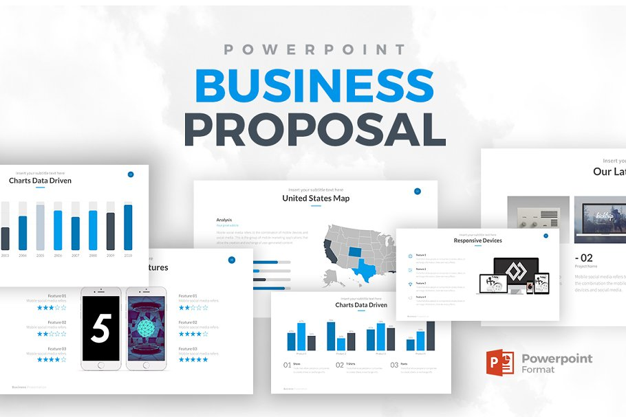 76f2b838c01 Business Proposal PowerPoint ~ Presentation Templates ~ Creative Market