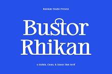 Bustor Rhikan - Slab Serif Font by  in Fonts