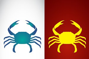Vector image of an crab design