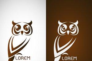 Owl design , logo, symbol
