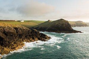 Coastline of Cornwall in England