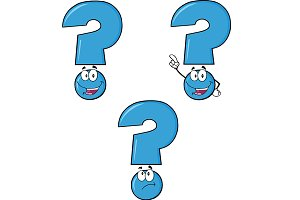 Blue Question Mark Collection