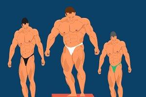 bodybuilding concept, vector