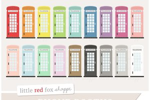 Phone Booth Clipart