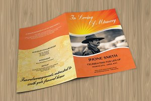 Funeral Program Template-V431